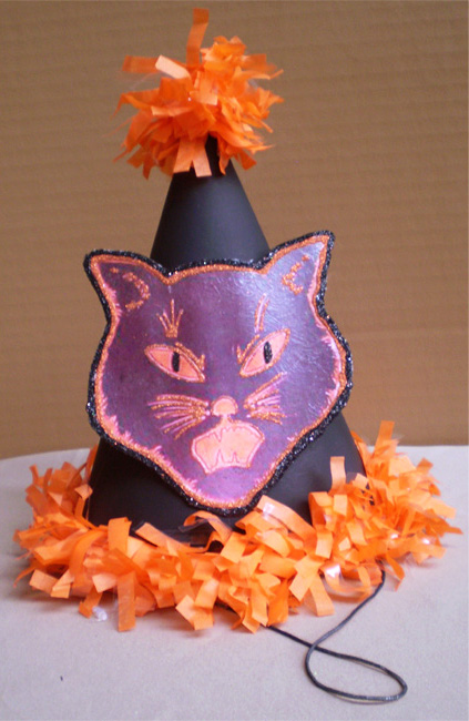Sold-Black Cat Party Hat
