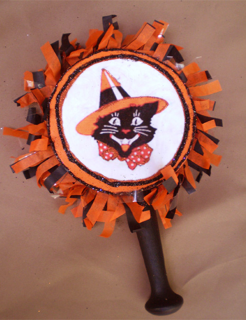 Black Cat Noisemaker Rattle
