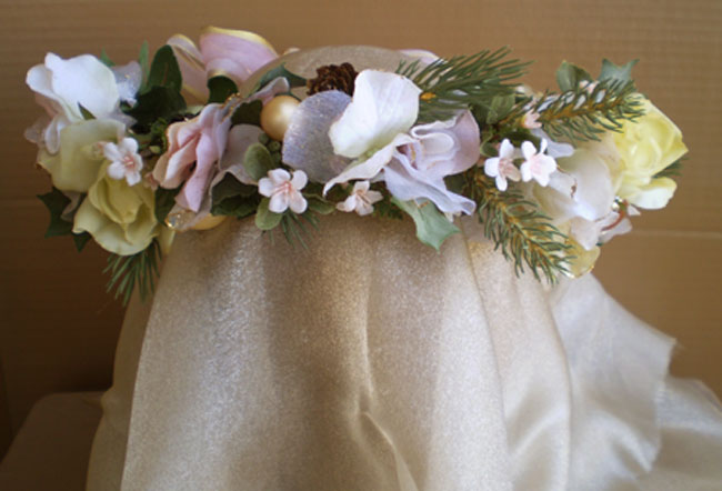 SOLD-Sugary Pink Faerie Head Wreath