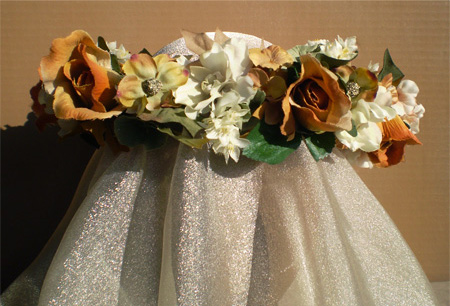 October Bride Faerie Head Wreath