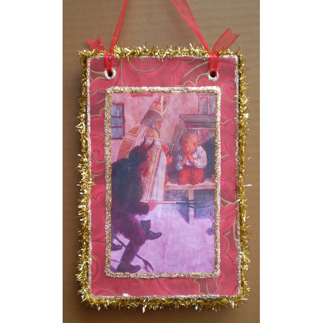 I'll be Good Krampus ST.Nick Wall Hanger