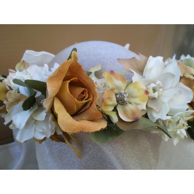 SOLD-October Bride Faerie Head Wreath
