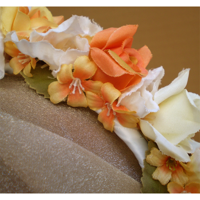 Orange Faerie Rose Head Band